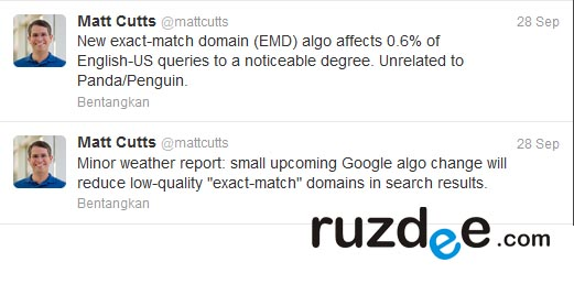 google exact-match domain (EMD)